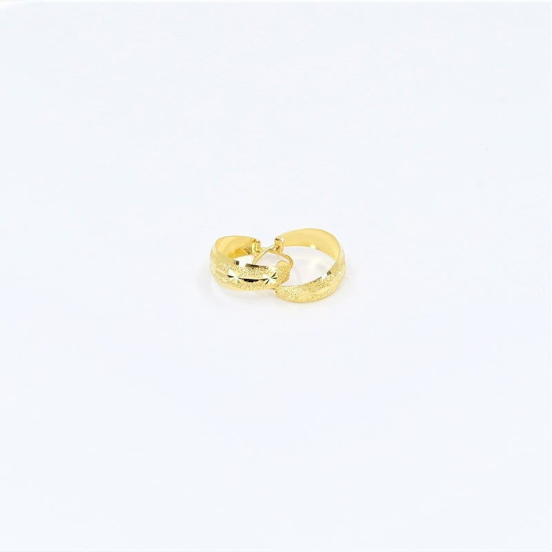 Small Crescent Shaped Hoop Earrings - 1