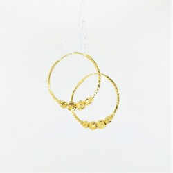 Four-Tiered Ball Hoop Earrings