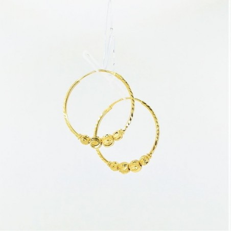 Two-Tone Chain Drop Earings - 1
