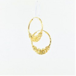 Diamond Cut Hoop Earrings - 1