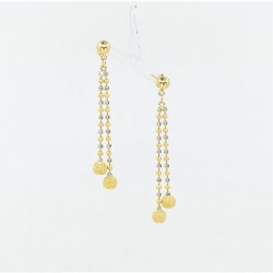 Two-Tone Chain Drop Earings