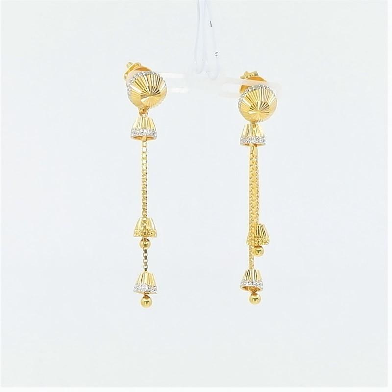 Two-Tone Jumar Long Drop Earrings - 1
