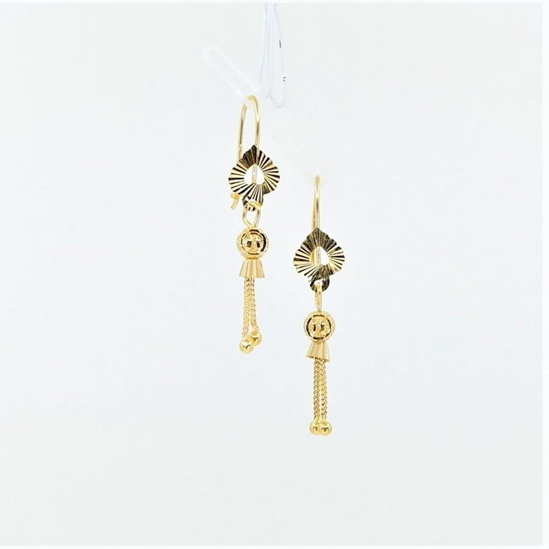 Hook Back Drop Earrings - 1