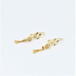 Hook Back Drop Earrings - 2