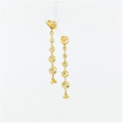 Tiered Gold Bead Drop Earrings