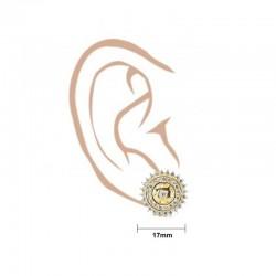 Claw Set Round C/Z Stud Earrings - 3