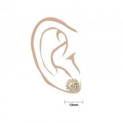 Diamond Cut Hoop Earrings - 3