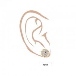 Round Star Stud Earrings - 3