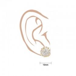 C/Z Stud Swirl Design Stud Earrings - 3
