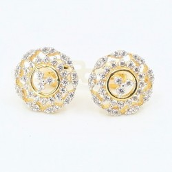 C/Z Cluster Stud Earrings - 1
