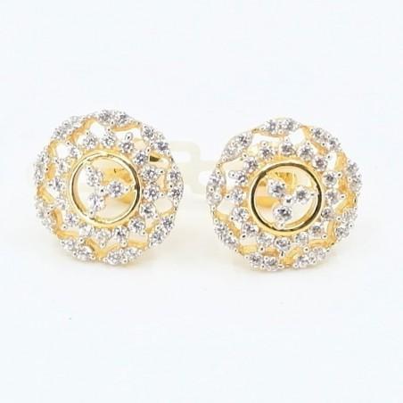 C/Z Cluster Stud Earrings - 1