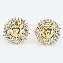 Claw Set Round C/Z Stud Earrings - 1