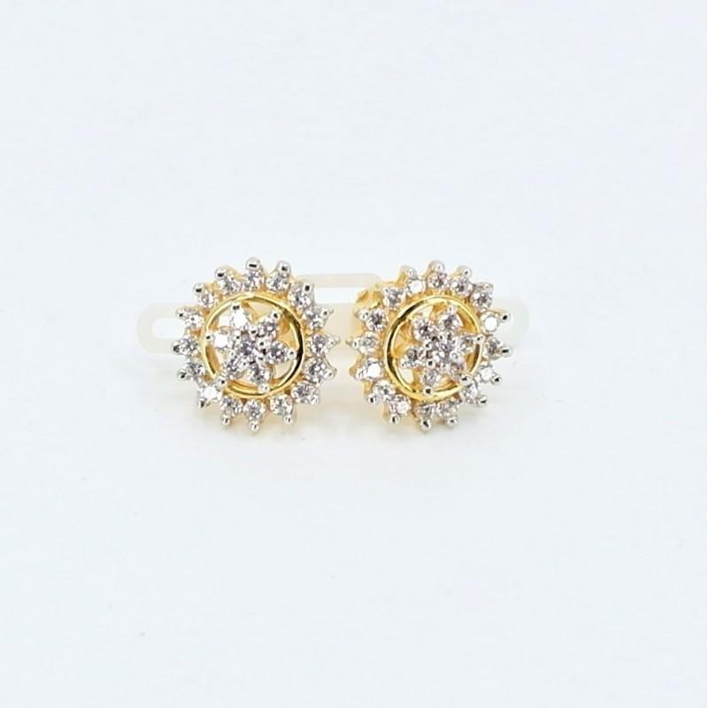 Diamond Cut Hoop Earrings - 1