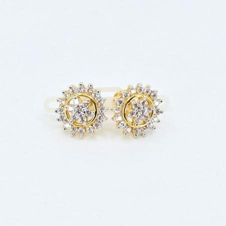 Halo Star Stud Earrings
