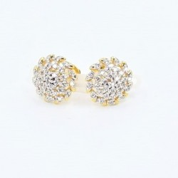 C/Z Stud Swirl Design Stud Earrings