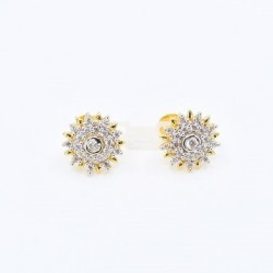 Round Star Stud Earrings - 1