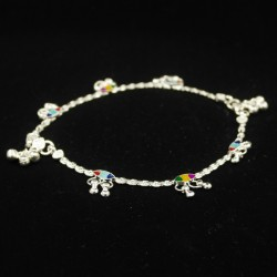 Baby Anklets with Colour Charms - 1