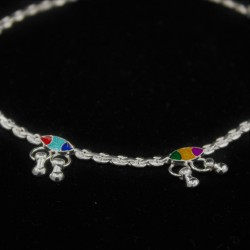 Baby Anklets with Colour Charms - 3
