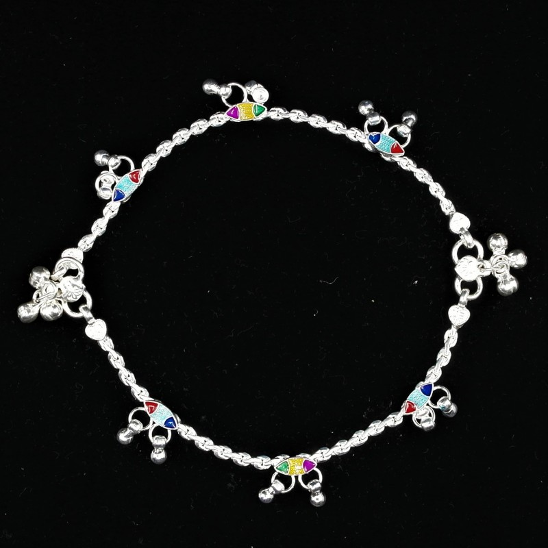 Baby Anklets with Colourful Charms - 1