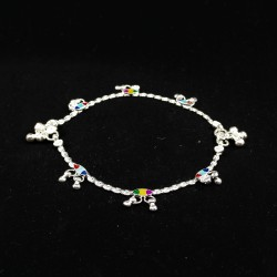 Baby Anklets with Colourful Charms - 2