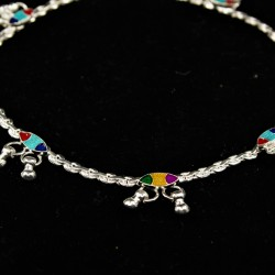 Baby Anklets with Colourful Charms - 3