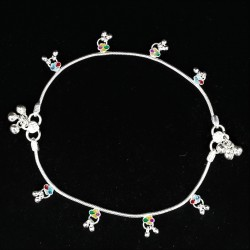 Baby Anklets Colour Charms and Ghugri - 1