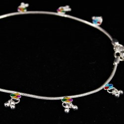 Baby Anklets Colour Charms and Ghugri - 3