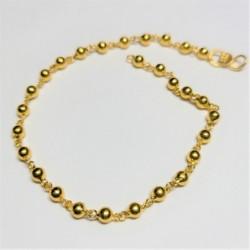 Hollow yellow gold bead bracelet - 2