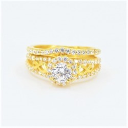 22ct Bridal Ring Set - DMS-R74 - 1