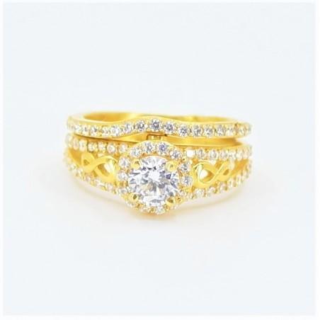 22ct Bridal Ring Set - DMS-R74 - 1