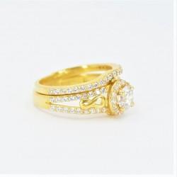 22ct Bridal Ring Set - DMS-R74 - 2