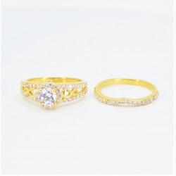 22ct Bridal Ring Set - DMS-R74 - 3