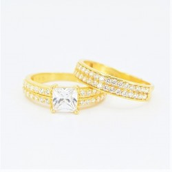 22ct Bridal Ring Set - DMS-R81