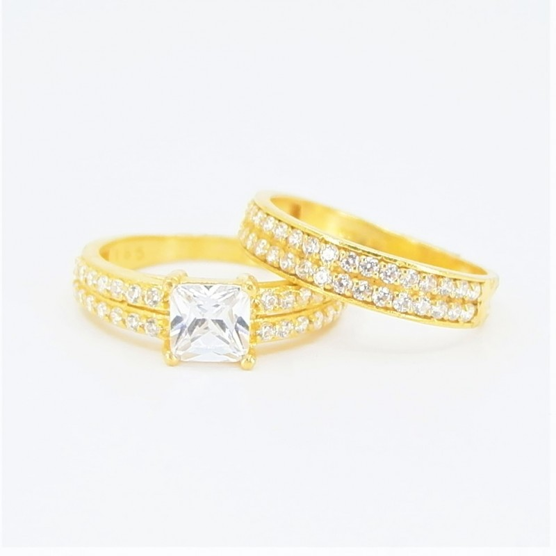 22ct Bridal Ring Set - DMS-R81 - 1