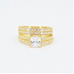 22ct Bridal Ring Set - DMS-R81 - 2