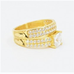 22ct Bridal Ring Set - DMS-R81 - 3