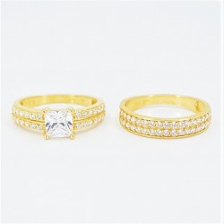 22ct Bridal Ring Set - DMS-R81 - 4