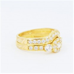 22ct Bridal Ring Set - DMS-R60 - 1