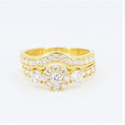 22ct Bridal Ring Set - DMS-R60