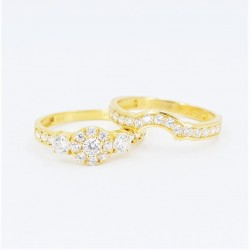 22ct Bridal Ring Set - DMS-R60 - 3
