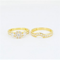 22ct Bridal Ring Set - DMS-R60 - 4