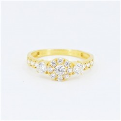 22ct Bridal Ring Set - DMS-R60 - 5