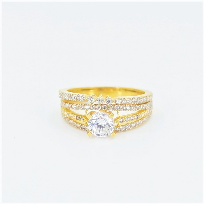 22ct Bridal Ring Set - DMS-R54 - 1