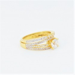 22ct Bridal Ring Set - DMS-R54 - 2