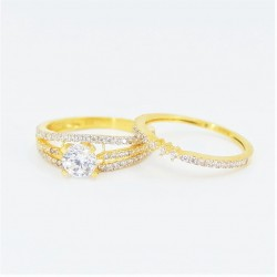 22ct Bridal Ring Set - DMS-R54 - 3