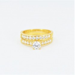 22ct Bridal Ring Set - DMS-R56 - 1