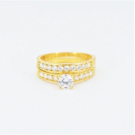 22ct Bridal Ring Set - DMS-R56 - 1