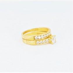 22ct Bridal Ring Set - DMS-R56 - 2