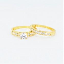 22ct Bridal Ring Set - DMS-R56 - 3