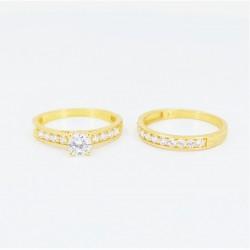 22ct Bridal Ring Set - DMS-R56 - 4